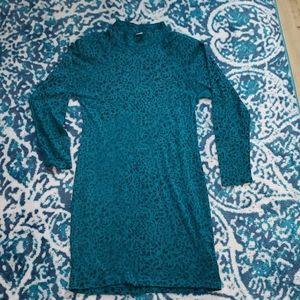 Vintage teal patterned dress